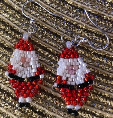 Santa earrings
